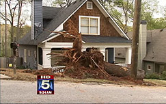 Storm damage in Georgia