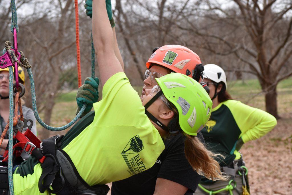9 field day climbing 3 1024x683 - Bartlett Women in Arboriculture