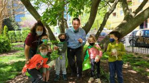Kurt Mohr seedlings and capes at local preschool 300x169 - Celebrating Arbor Day and Earth Day 2021
