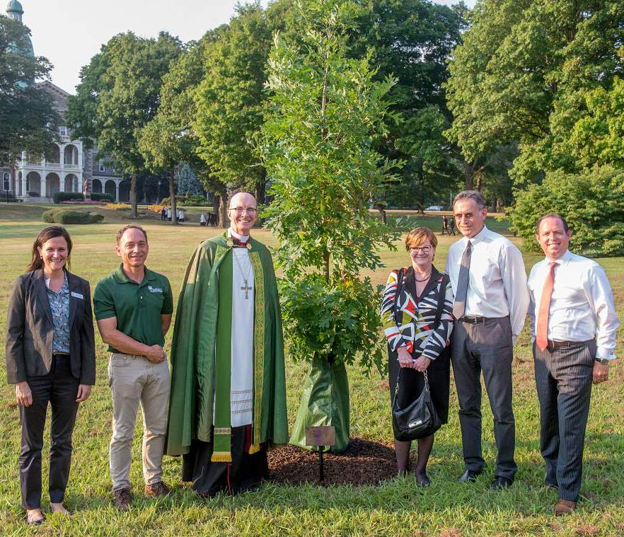 PHS St Charles Seminary lg - Planting of Commemorative White Oak